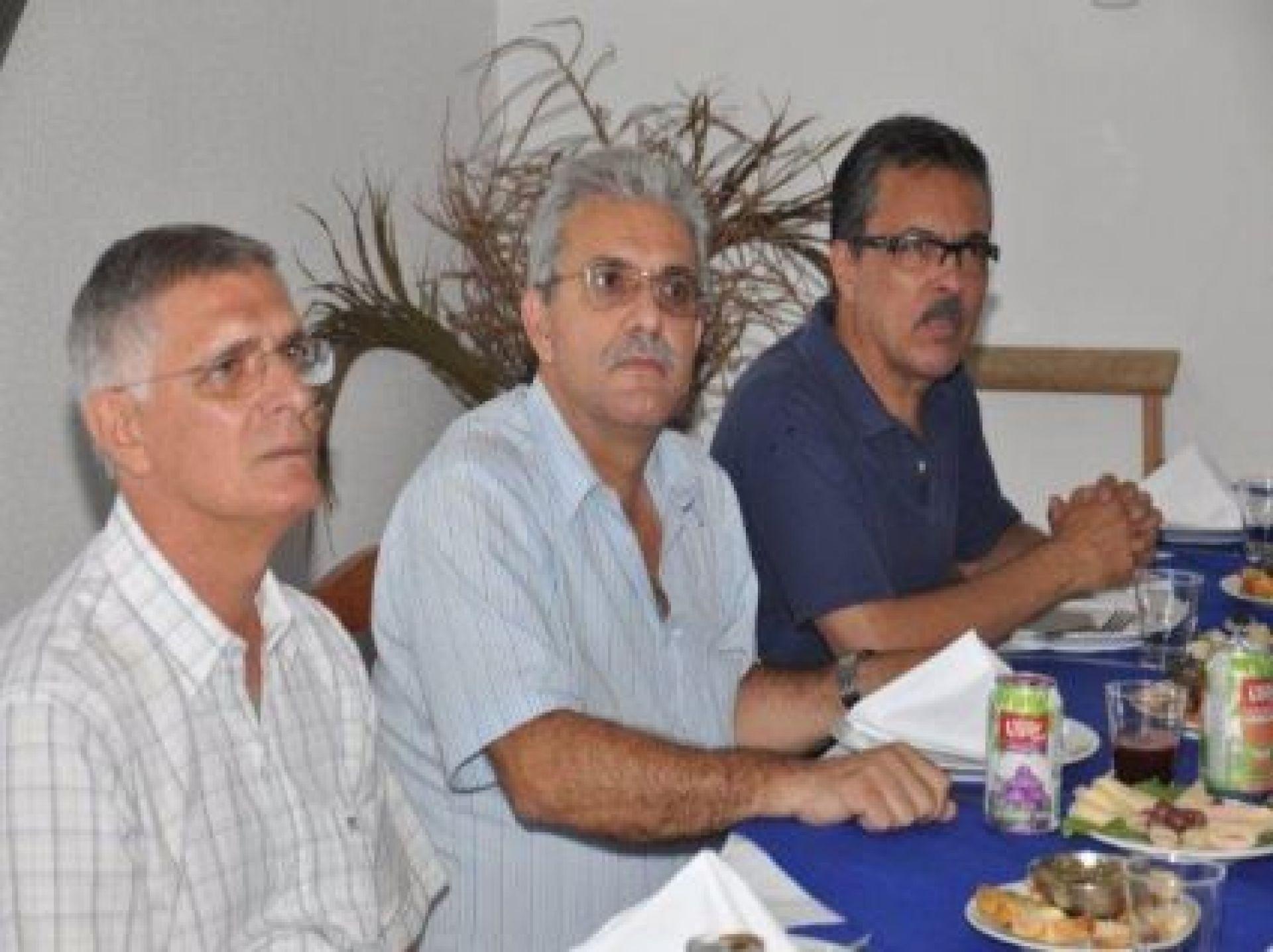 Dr Leniro, advogado de SINTSHOGASTRO - Vice Prefeito e Dagoberto apresentador de eventos do SINTSHOGASTRO